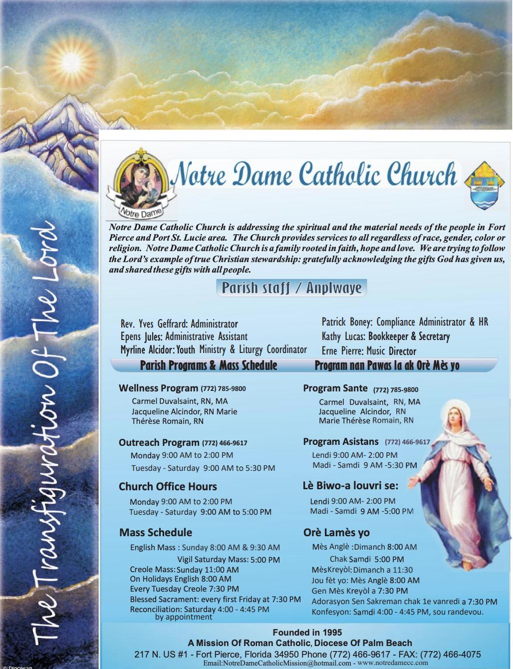 Aug 2, 2020 Bulletin