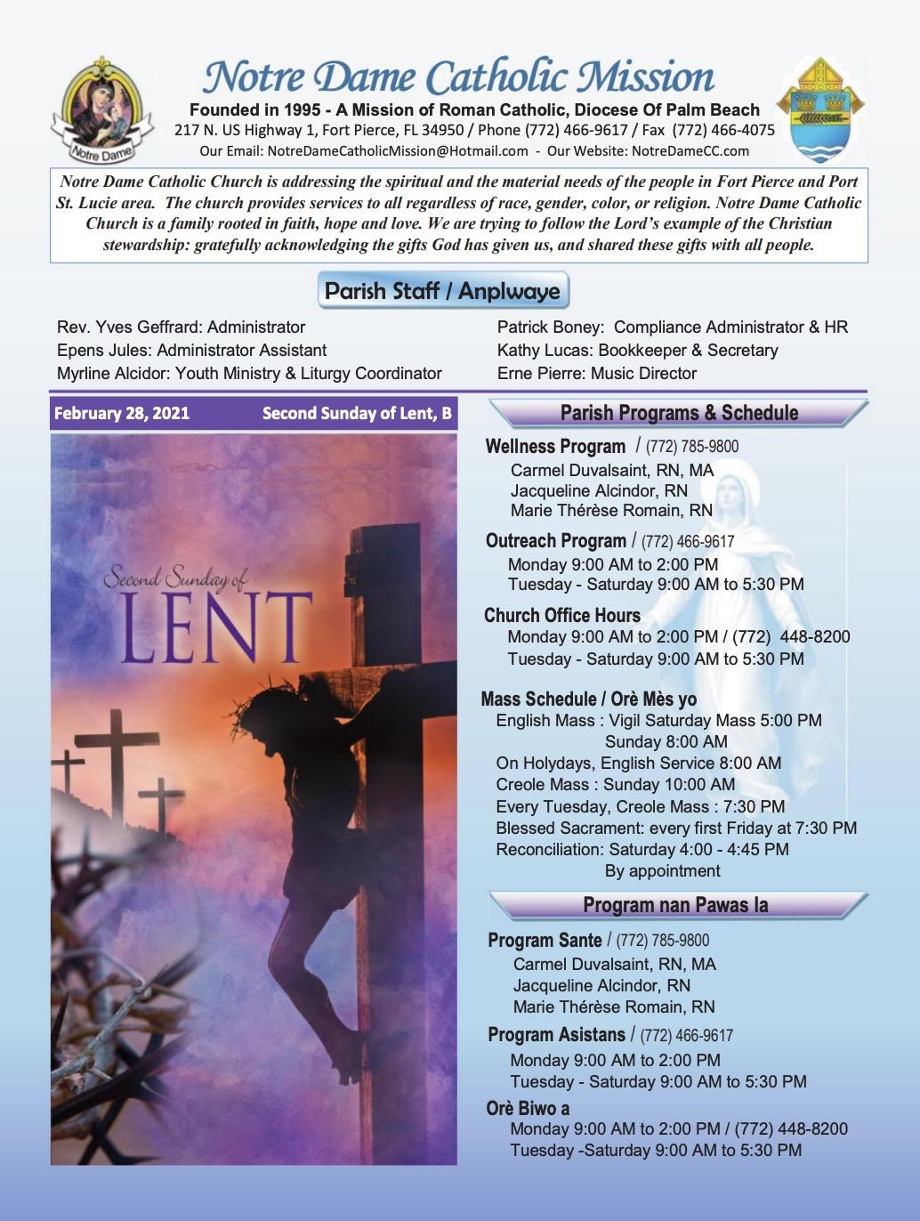 Feb 28, 2021 Bulletin